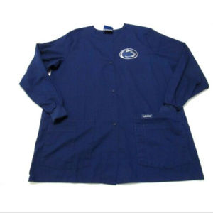 Penn State Nittany Lions Lab Coat Scrub Top Sz Med